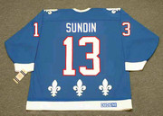 MATS SUNDIN Quebec Nordiques 1991 Away CCM Throwback NHL Hockey Jersey - BACK