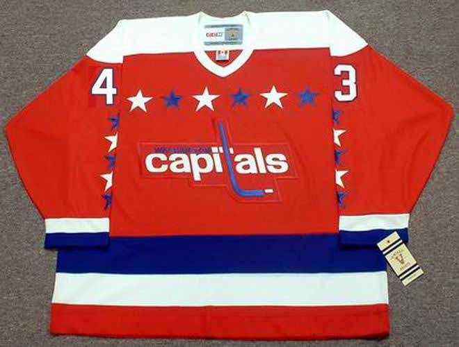 sports shoes 5c238 ef1c8 TOM WILSON Washington Capitals CCM Vintage Throwback Home NHL Jersey