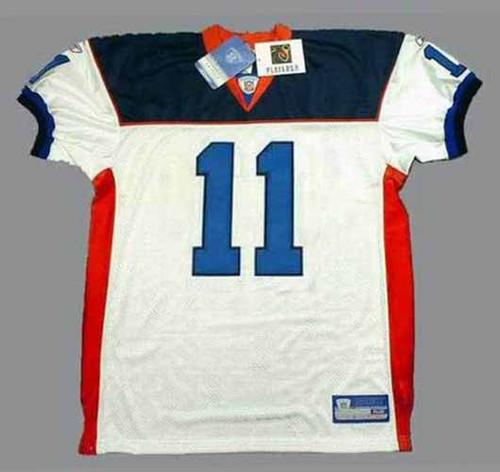 DREW BLEDSOE Buffalo Bills 2004 Away Reebok Authentic Throwback NFL Jersey - FRONT