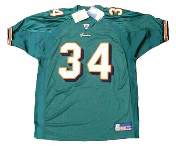 online store 7a65a acb49 RICKY WILLIAMS Miami Dolphins 2002 Home Reebok Authentic Throwback NFL  Jersey