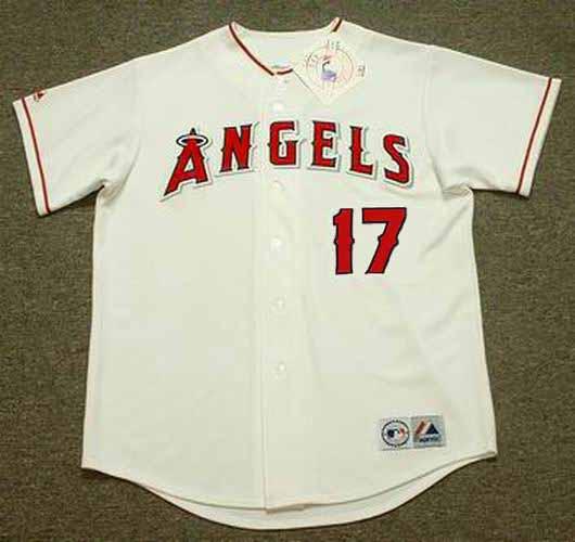 huge discount 6bdc5 7b1a9 SHOHEI OHTANI Los Angeles Angels 2018 Home Majestic Throwback Baseball  Jersey