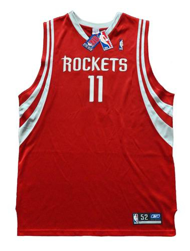 YAO MING Houston Rockets 2003 Away Reebok Authentic Throwback NBA Jersey - FRONT
