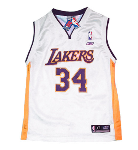 SHAQUILLE O'NEAL Los Angeles Lakers 2002 Home Reebok Throwback NBA Jersey - FRONT