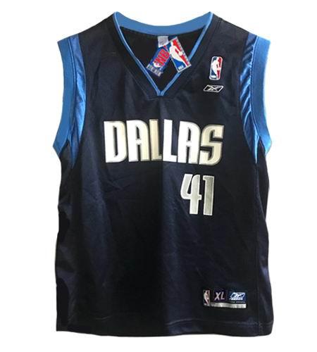 size 40 8bd92 bd2b8 DIRK NOWITZKI Dallas Mavericks 2003 Away Reebok Throwback NBA Jersey