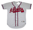 DEION SANDERS Atlanta Braves 1992 Away Majestic Throwback Baseball Jersey - FRONT