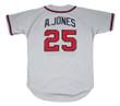 ANDRUW JONES Atlanta Braves 1999 Away Majestic Throwback Baseball Jersey - BACK