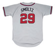 JOHN SMOLTZ Atlanta Braves 1995 Away Majestic Throwback Baseball Jersey - BACK