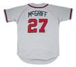 FRED McGRIFF Atlanta Braves 1995 Away Majestic Throwback Baseball Jersey - BACK