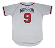 MARQUIS GRISSOM Atlanta Braves 1995 Away Majestic Throwback Baseball Jersey - BACK