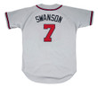 DANSBY SWANSON  Atlanta Braves Away Majestic Baseball Jersey - BACK