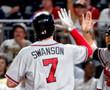 DANSBY SWANSON  Atlanta Braves Away Majestic Baseball Jersey - ACTION