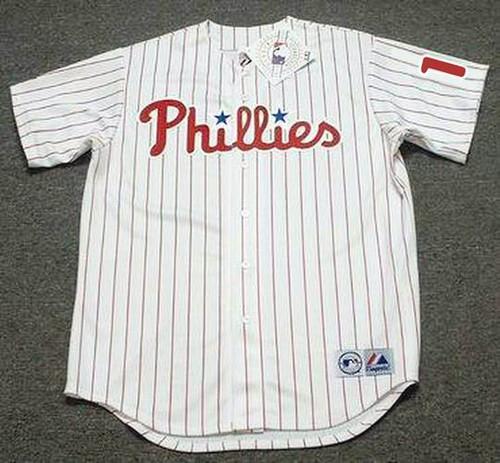 RHYS HOSKINS Philadelphia Phillies Home Majestic Baseball Jersey - FRONT