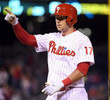 RHYS HOSKINS Philadelphia Phillies Home Majestic Baseball Jersey - ACTION