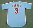 BRYCE HARPER Philadelphia Phillies 1980's Majestic Throwback Away Baseball Jersey - BACK