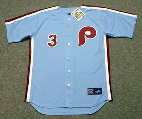 BRYCE HARPER Philadelphia Phillies 1980's Majestic Throwback Away Baseball Jersey - FRONT