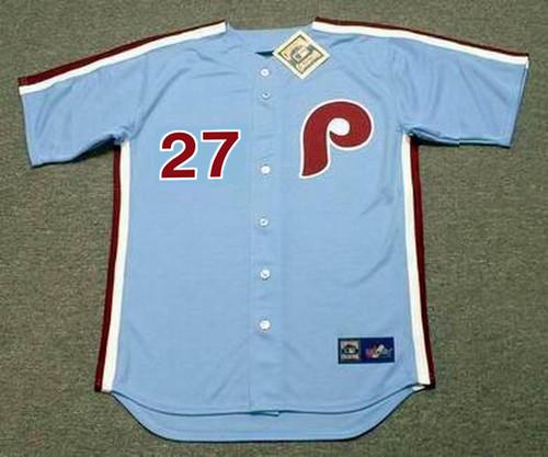 AARON NOLA Philadelphia Phillies 1980's Majestic Throwback Away Baseball Jersey - FRONT