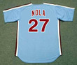AARON NOLA Philadelphia Phillies 1980's Majestic Throwback Away Baseball Jersey - BACK