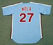 AARON NOLA Philadelphia Phillies 1980's Majestic Throwback Away Baseball Jersey - BACK