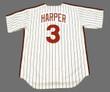 BRYCE HARPER Philadelphia Phillies 1980's Majestic Throwback Home Baseball Jersey - BACK