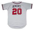 BRUCE BENEDICT Atlanta Braves 1988 Away Majestic Throwback Baseball Jersey - BACK