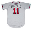 GARY SHEFFIELD Atlanta Braves 2003 Away Majestic Throwback Baseball Jersey - BACK