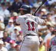 GARY SHEFFIELD Atlanta Braves 2003 Away Majestic Throwback Baseball Jersey - ACTION