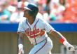 OTIS NIXON Atlanta Braves 1992 Away Majestic Throwback Baseball Jersey - ACTION