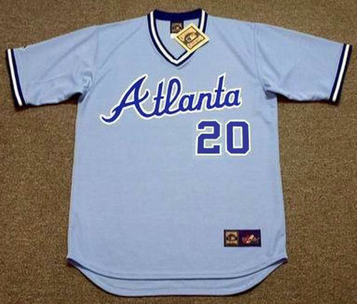 BRUCE BENEDICT Atlanta Braves 1982 Majestic Cooperstown Retro Baseball Jersey - FRONT