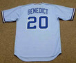 BRUCE BENEDICT Atlanta Braves 1982 Majestic Cooperstown Retro Baseball Jersey - BACK