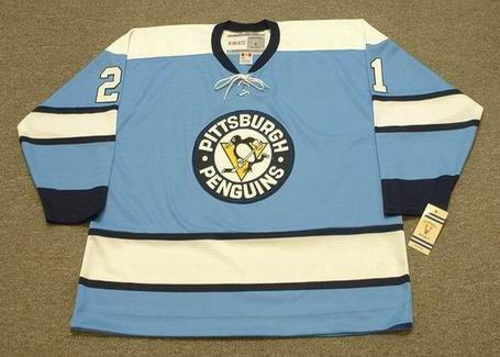 MICHEL BRIERE Pittsburgh Penguins 1969 CCM NHL Vintage Throwback Jersey - Front