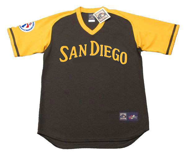 buy popular 25ffd 7a1f2 RANDY JONES San Diego Padres 1976 Away Majestic Baseball Throwback Jersey