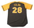 BOBBY TOLAN San Diego Padres 1979 Away Majestic Baseball Throwback Jersey - BACK