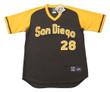 BOBBY TOLAN San Diego Padres 1979 Away Majestic Baseball Throwback Jersey - FRONT