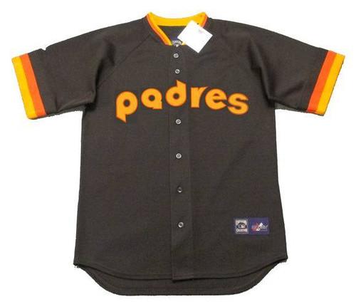 ALAN WIGGINS San Diego Padres 1984 Away Majestic Throwback Baseball Jersey - FRONT
