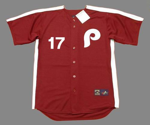 RHYS HOSKINS Philadelphia Phillies 1979 Majestic Throwback Baseball Jersey - FRONT
