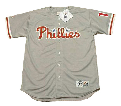 RHYS HOSKINS Philadelphia Phillies Away Majestic Baseball Jersey - FRONT