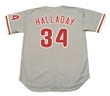 ROY HALLADAY Philadelphia Phillies 2010 Away Majestic Throwback Baseball Jersey - BACK