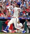 "BRYCE HARPER Philadelphia Phillies Majestic Alternate ""Cool Base"" Authentic Baseball Jersey - ACTION"