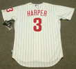 """BRYCE HARPER Philadelphia Phillies Majestic Home """"Cool Base"""" Authentic Baseball Jersey - BACK"""