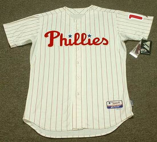 "RHYS HOSKINS Philadelphia Phillies Majestic Home ""Cool Base"" Authentic Baseball Jersey - FRONT"
