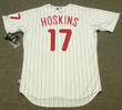 "RHYS HOSKINS Philadelphia Phillies Majestic Home ""Cool Base"" Authentic Baseball Jersey - BACK"