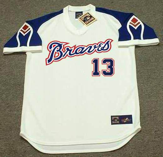new concept a0a5b 7cc94 RONALD ACUNA JR. Atlanta Braves 1970's Home Majestic Throwback Baseball  Jersey
