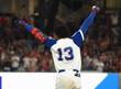 RONALD ACUNA JR. Atlanta Braves 1970's Home Majestic Throwback Baseball Jersey - ACTION