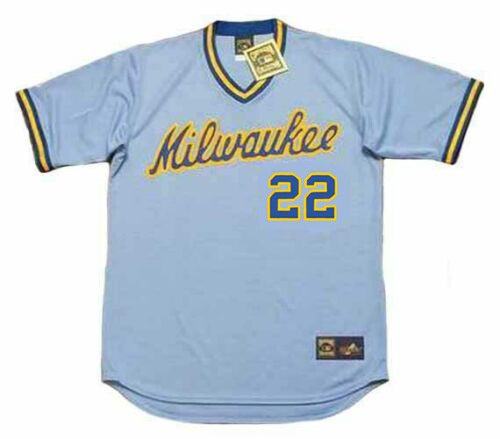 CHRISTIAN YELICH Milwaukee Brewers 1980's Away Majestic Throwback Baseball Jersey - FRONT