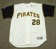 STEVE BLASS Pittsburgh Pirates 1966 Home Majestic Baseball Throwback Jersey - FRONT