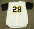 STEVE BLASS Pittsburgh Pirates 1966 Home Majestic Baseball Throwback Jersey - BACK