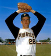 STEVE BLASS Pittsburgh Pirates 1966 Home Majestic Baseball Throwback Jersey - ACTION