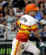 ALEX BREGMAN Houston Astros 1980's Home Majestic Baseball Throwback Jersey - ACTION