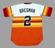 ALEX BREGMAN Houston Astros 1980's Home Majestic Baseball Throwback Jersey - BACK