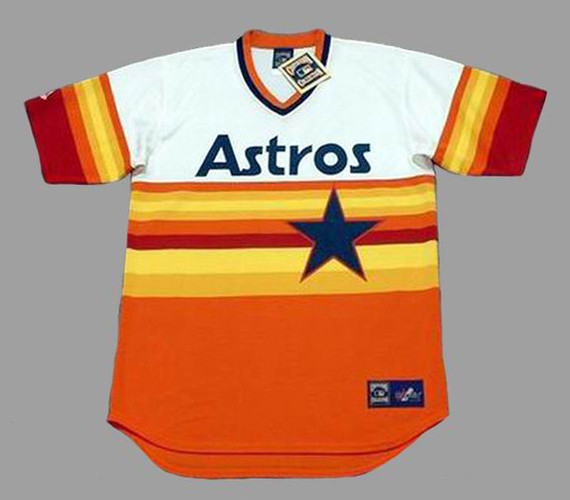 the latest 68d55 22f87 GEORGE SPRINGER Houston Astros 1980's Home Majestic Throwback Baseball  Jersey